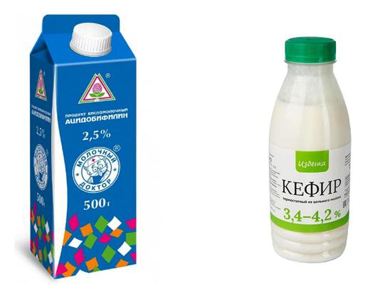 Ацидофилин и кефир