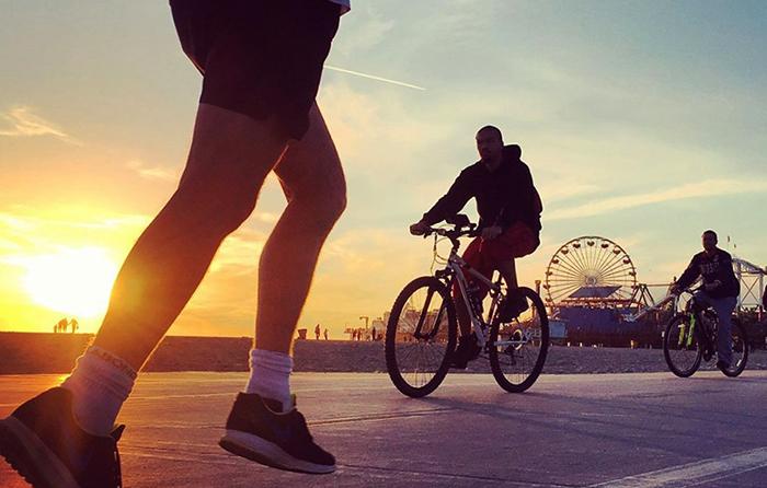 Бег и велосипед