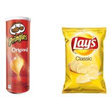 Какие чипсы вреднее Pringles или Lays?