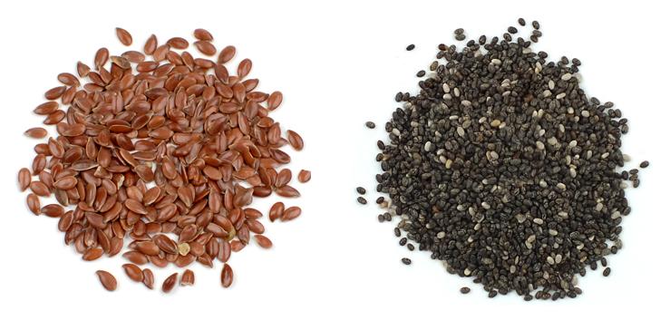 Семена льна и чиа