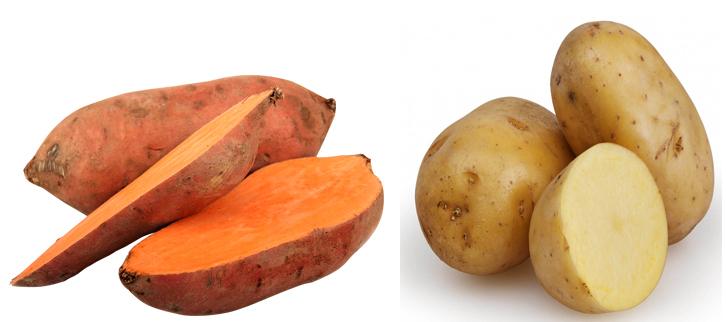 Батат и картофель