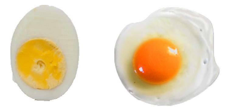 Вареное и жареное яйцо