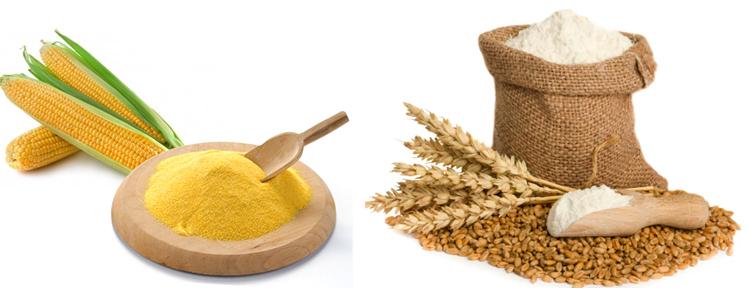Кукурузная и пшеничная мука